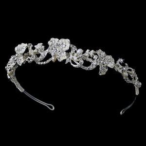 Floral Bridal Headpiece - La Bella Bridal Accessories
