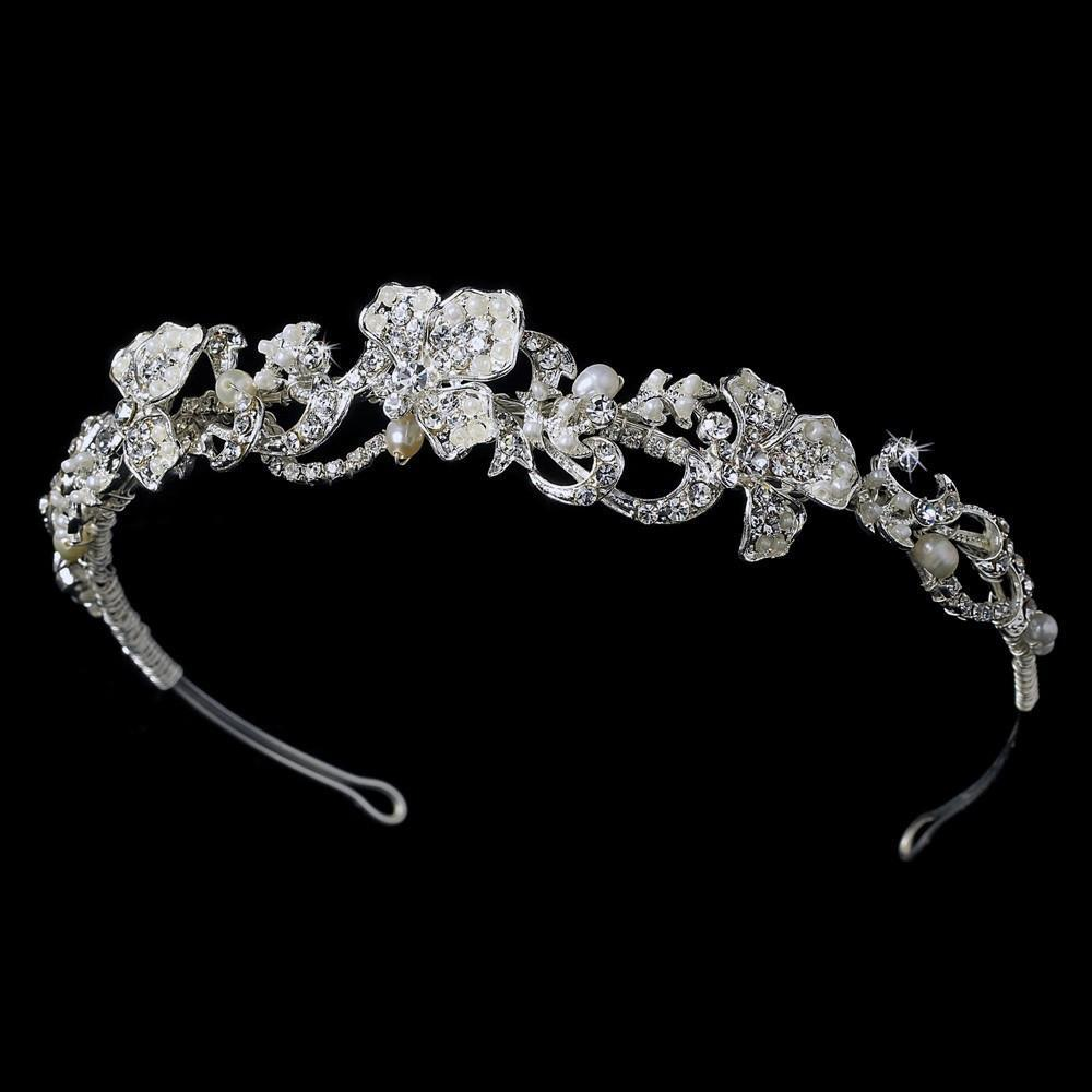 Floral Bridal Headpiece HP 7803 - La Bella Bridal Accessories