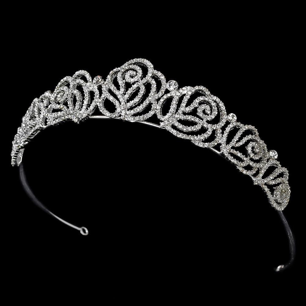 Channel Rose Bridal Tiara - La Bella Bridal Accessories