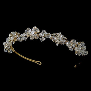 Beautiful Crystal Tiara Band - La Bella Bridal Accessories