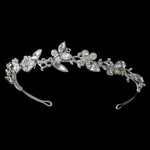 Butterfly Bridal Headband - La Bella Bridal Accessories