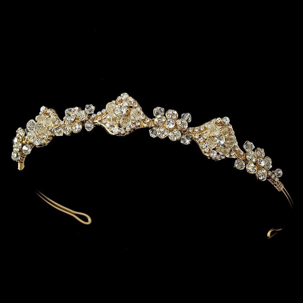 Vintage Bridal Headpiece Gold or Silver - La Bella Bridal Accessories