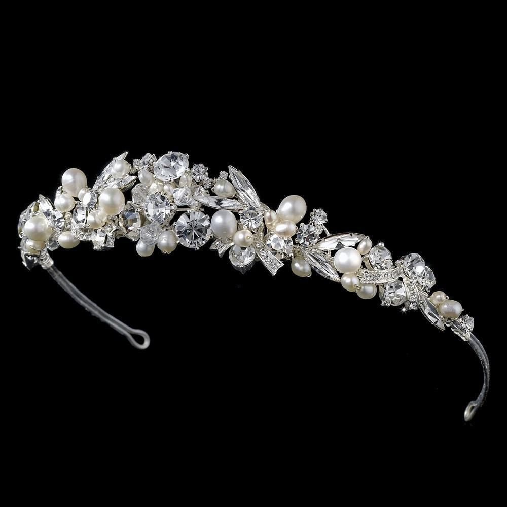 Pearl Bridal Tiara, Wedding Headpiece, Bridal headpieces