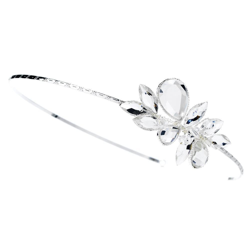 Silver Plated Swarovski Headband HP 8248 - La Bella Bridal Accessories