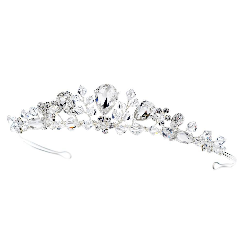 Swarovski Silver Bridal Tiara - La Bella Bridal Accessories