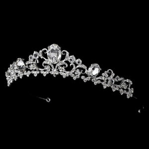 Gold or Silver Plated Bridal Tiara - La Bella Bridal Accessories