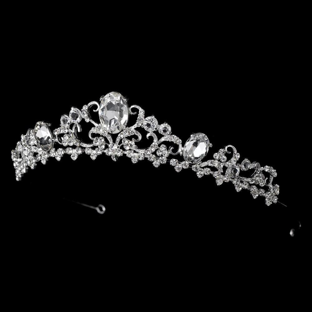 Gorgeous Silver Plated Bridal Tiara - La Bella Bridal Accessories