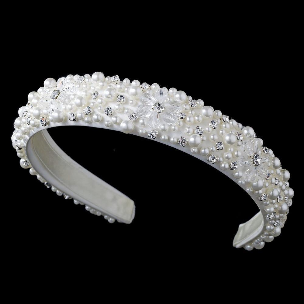 Swarovski Silver Bridal Headband - La Bella Bridal Accessories