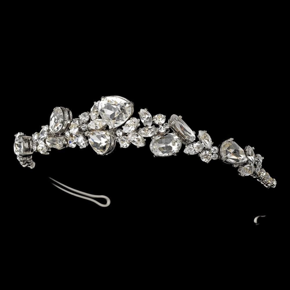 Beautiful Silver Crystal Bridal Tiara - La Bella Bridal Accessories