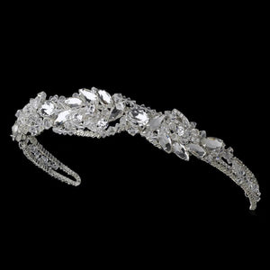 Silver Crystal Couture Sensation Bridal Headband - La Bella Bridal Accessories