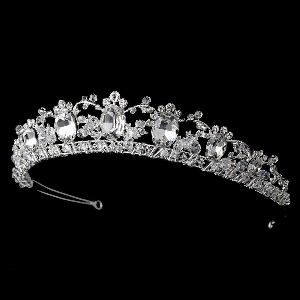 Crystal Galore Princess Bridal Hair Tiara Headband - La Bella Bridal Accessories