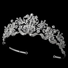 Vintage Inspired Silver Crystal Wedding Tiara Crown - La Bella Bridal Accessories