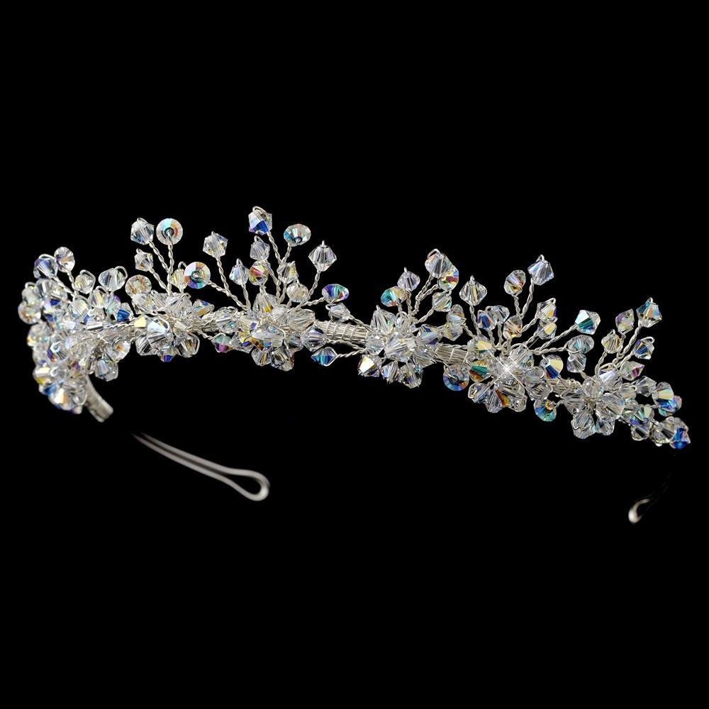 * Swarovski Crystal Bridal Tiara, Wedding Headpiece, Bridal headpieces