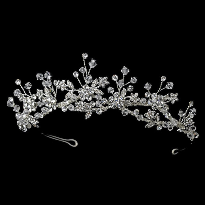 Silver Plated Bridal Tiara, wedding tiara, tiara, bridal headpieces, wedding headpiece
