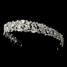 Beautiful CZ Crystal Wedding Headband Tiara - La Bella Bridal Accessories