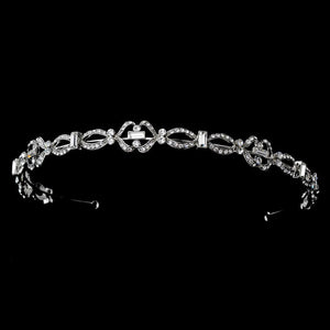Chic Antique Silver Crystal Headpiece - La Bella Bridal Accessories