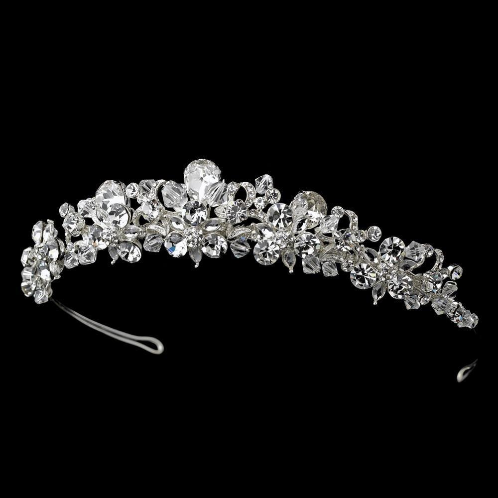 Fabulous Silver, Crystal Tiara Headpiece - La Bella Bridal Accessories