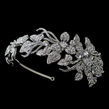 Antique Crystal Encrusted Wedding Headband - La Bella Bridal Accessories