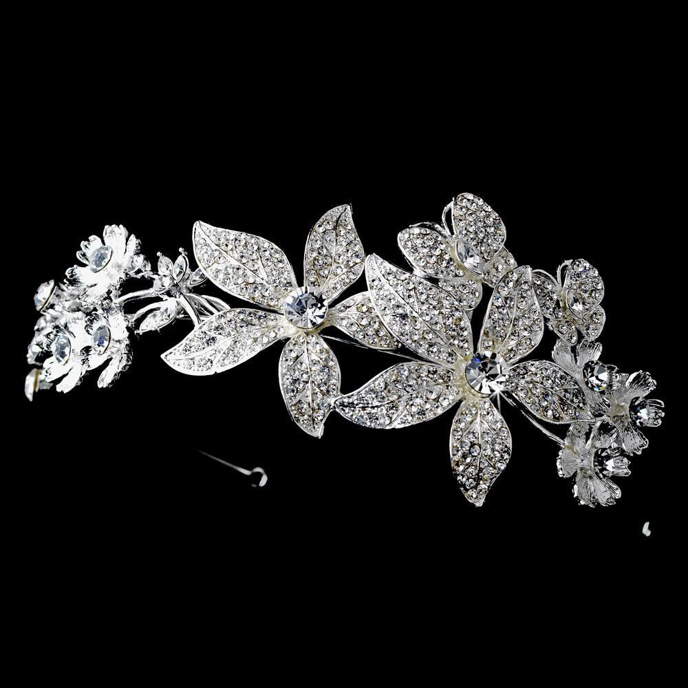 Silver Clear Headpiece 9931 - La Bella Bridal Accessories