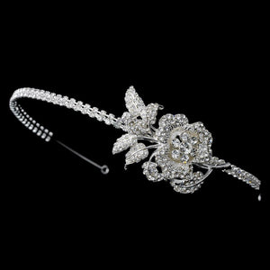 Crystal Flower Bridal Headband - La Bella Bridal Accessories