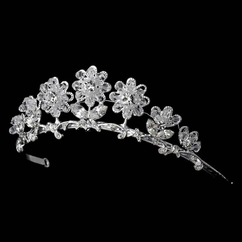 Child's Silver Tiara Headpiece - La Bella Bridal Accessories