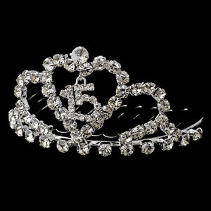 Sweet 15 Tiara Comb - La Bella Bridal Accessories