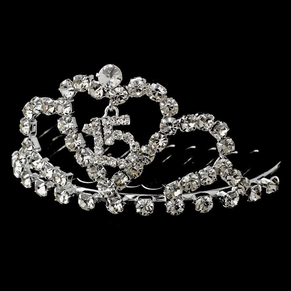 * Sweet 15 Tiara Comb HP-713 - La Bella Bridal Accessories