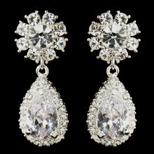 Kim K Inspired Crystal Necklace & Crystal Dangle CZ Teardrop Earrings - La Bella Bridal Accessories