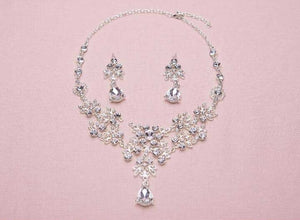 Gorgeous Vintage Silver Crystal Tiara & Jewelry Set - La Bella Bridal Accessories