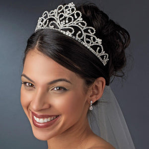 Crystal Tiara, Wedding Headpiece, Bridal headpieces