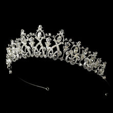 Dazzling Detailed Crystal Tiara - La Bella Bridal Accessories
