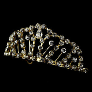 Gold Plated Child's Tiara - La Bella Bridal Accessories