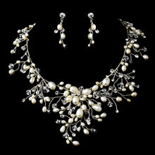 Dramatic Crystal & Freshwater Pearl Bridal Jewelry Set - La Bella Bridal Accessories