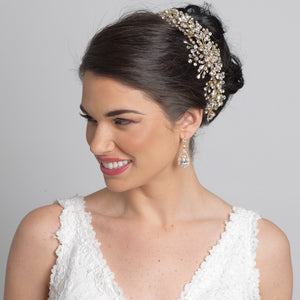 crystal hairband, Crystal Hair Vine, crystal hair band, Crystal gold headband, Crystal headpiece, light gold crystal, crystal, crystal bridal cap, Crystal bridal headpieces, crystal bridal headpiece, crystal bridal headband