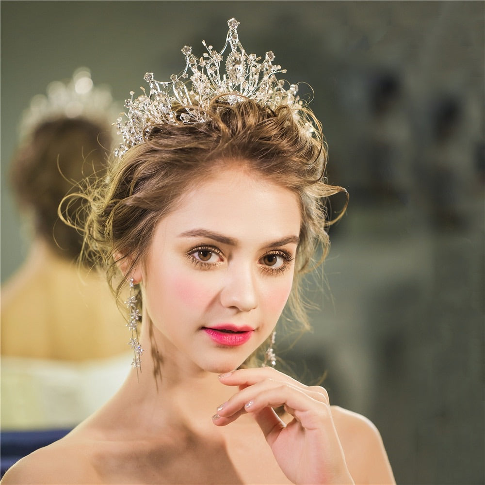 Gorgeous Regal Crystal Wedding Tiara Crown - La Bella Bridal Accessories