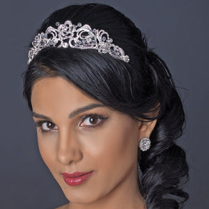 Swarovski Crystal Swirl Bridal Tiara Headpiece