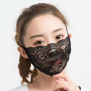 Beautiful Sheer Single layer Lace Bridal Face Mask