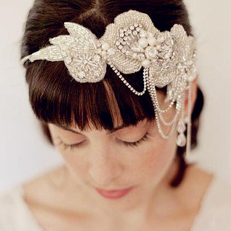 Lace ribbon headband, lace bridal ribbon headband, lace appliqué, lace hand beaded, crystal ribbon headband, wedding headband, bridal headpieces, wedding headpiece