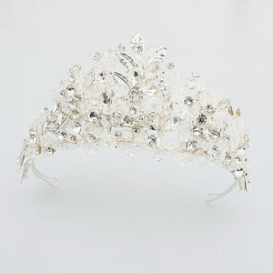 Vintage Crystal Bridal Tiara Crown fit for a Princess Bride - La Bella Bridal Accessories