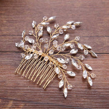 Wedding Hair Accessories Crystal Pearl Haircomb Gold Silver Vintage Hair Comb Bridal Hair Pins Women Hair Jewelry Combs Clip