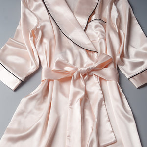Silky Satin Kimono Robe for Bride, Bridesmaids, or Nightgown Robe - La Bella Bridal Accessories