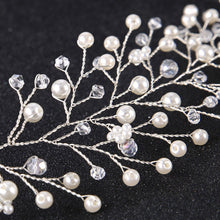 Gorgeous Crystal & Pearl Bridal Hair Vine Wedding Headpiece - La Bella Bridal Accessories