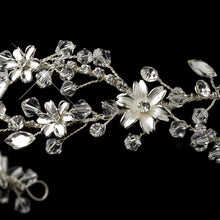 Swarovski Crystal Floral Wedding Headpiece, bridal headpieces, wedding headpiece, crystal tiara