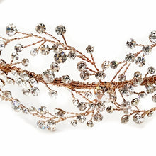 crystal bridal headband, rose gold crystal hair vine, crystal wedding hair vine, crystal wedding vine, gold hair vine, rose gold crystal hair vine, hairvine, hair vine, Silver hair vine, Rose gold hair vine