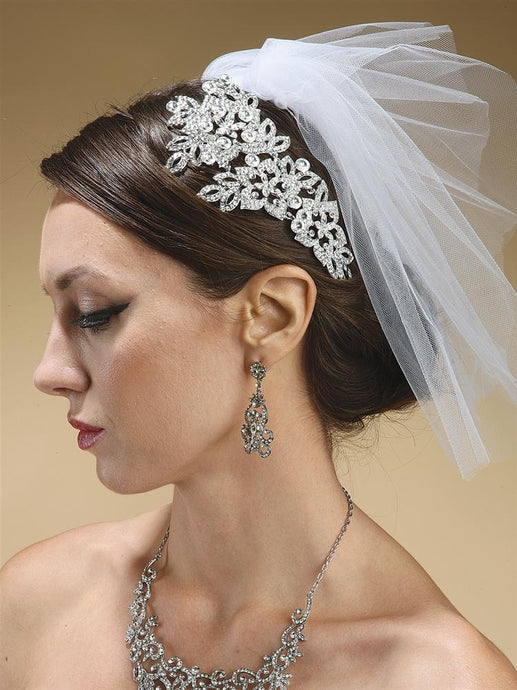 Flyaway Illusion Wedding Veil - La Bella Bridal Accessories