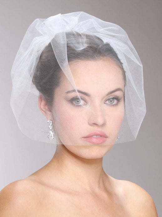 Tulle Birdcage Blusher Veil, Wedding Headpiece, Bridal headpieces - La Bella Bridal Accessories