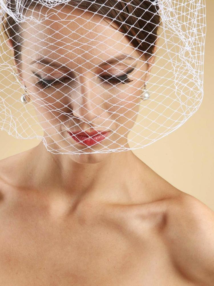French Netting Birdcage Face Veil - La Bella Bridal Accessories