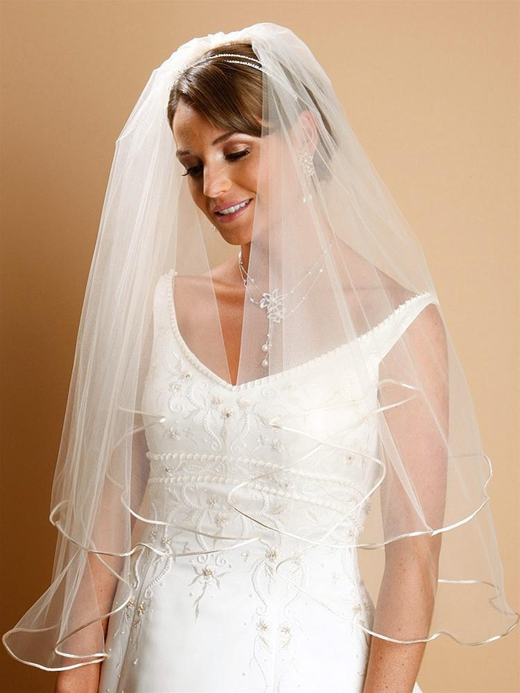 Two Layer Corded Edge Bridal Veil, wedding veil, Wedding Headpiece, Bridal headpieces