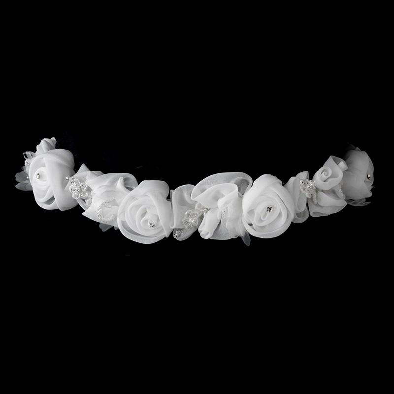 Floral Bridal Belt - La Bella Bridal Accessories