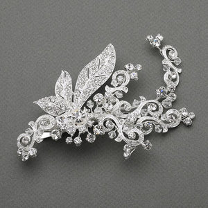 Vintage Crystal Bridal Hair Clip - La Bella Bridal Accessories